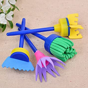 Home Mart Stamp Sponge Brush Drawing Painting Tool Child DIY Toy Gift