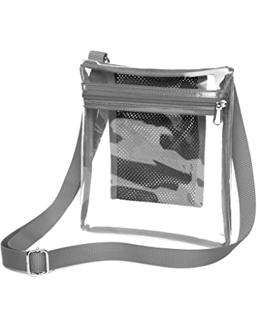 75ff20185b55 Clear Crossbody Purse NFL Stadium Approved Clear Bag for Women and Man with  Adjustable Strap