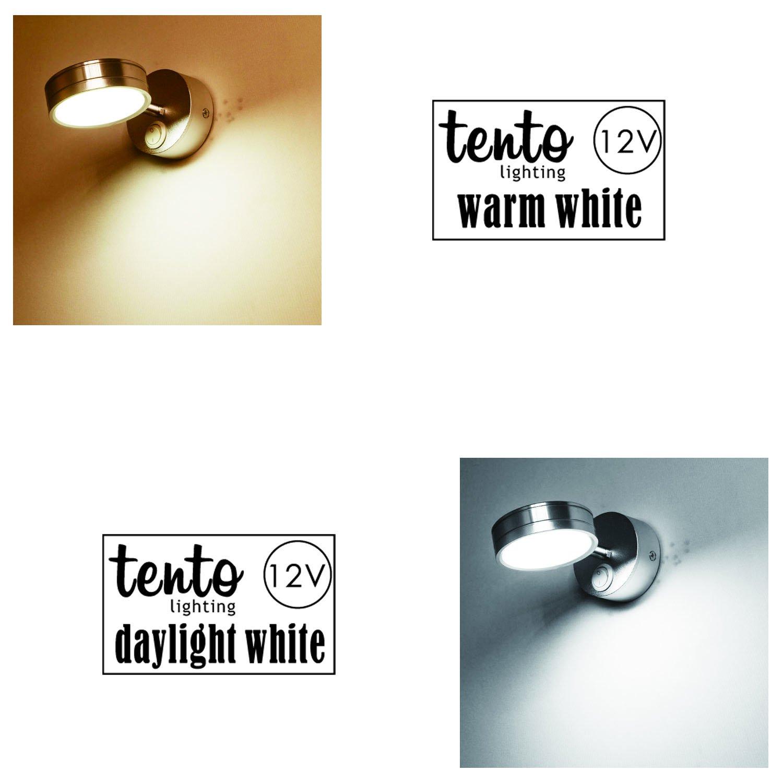 tento Lighting 12v Reading Light for RV and Boats Pack of 2 12v Spotlight Fixtures Daylight White 3w