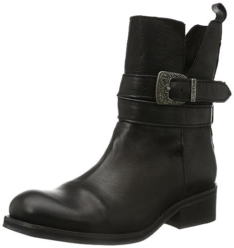 Diesel ROXY ROLL SASHAN - Biker Boots de cuero mujer, color negro, talla 36