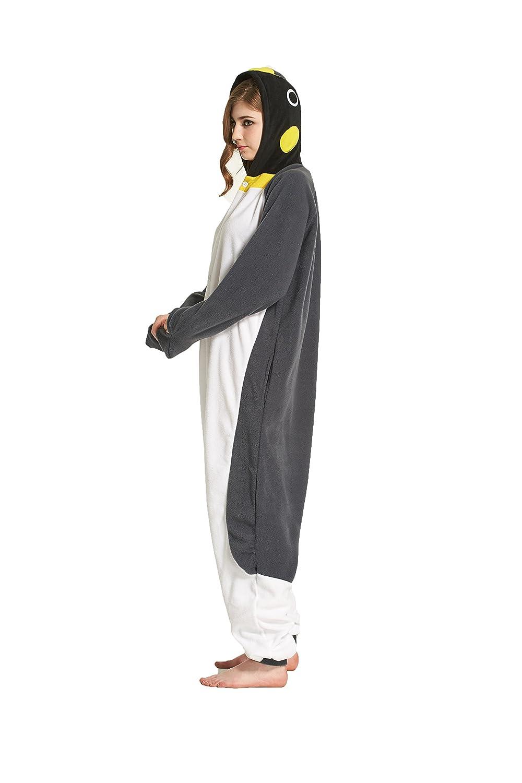 Blau Pinguin, S:H/öhe 150-159cm Fandecie Tier Kost/üm Tierkost/üm Tier Schlafanzug Pyjamas Jumpsuit Kigurumi Damen Herren Erwachsene Cosplay Tier Fasching Karneval Halloween