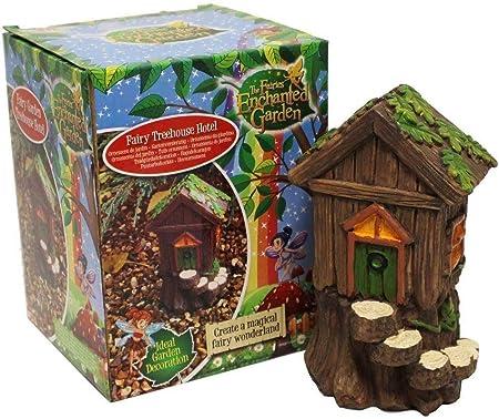 PMS Fairy Treehouse Hotel - Decoración para jardín: Amazon.es: Hogar
