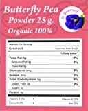 butterfly pea tea flowers Powder 0.88 oz. Organic 100% - Dried Pure Butterfly Pea Flowers