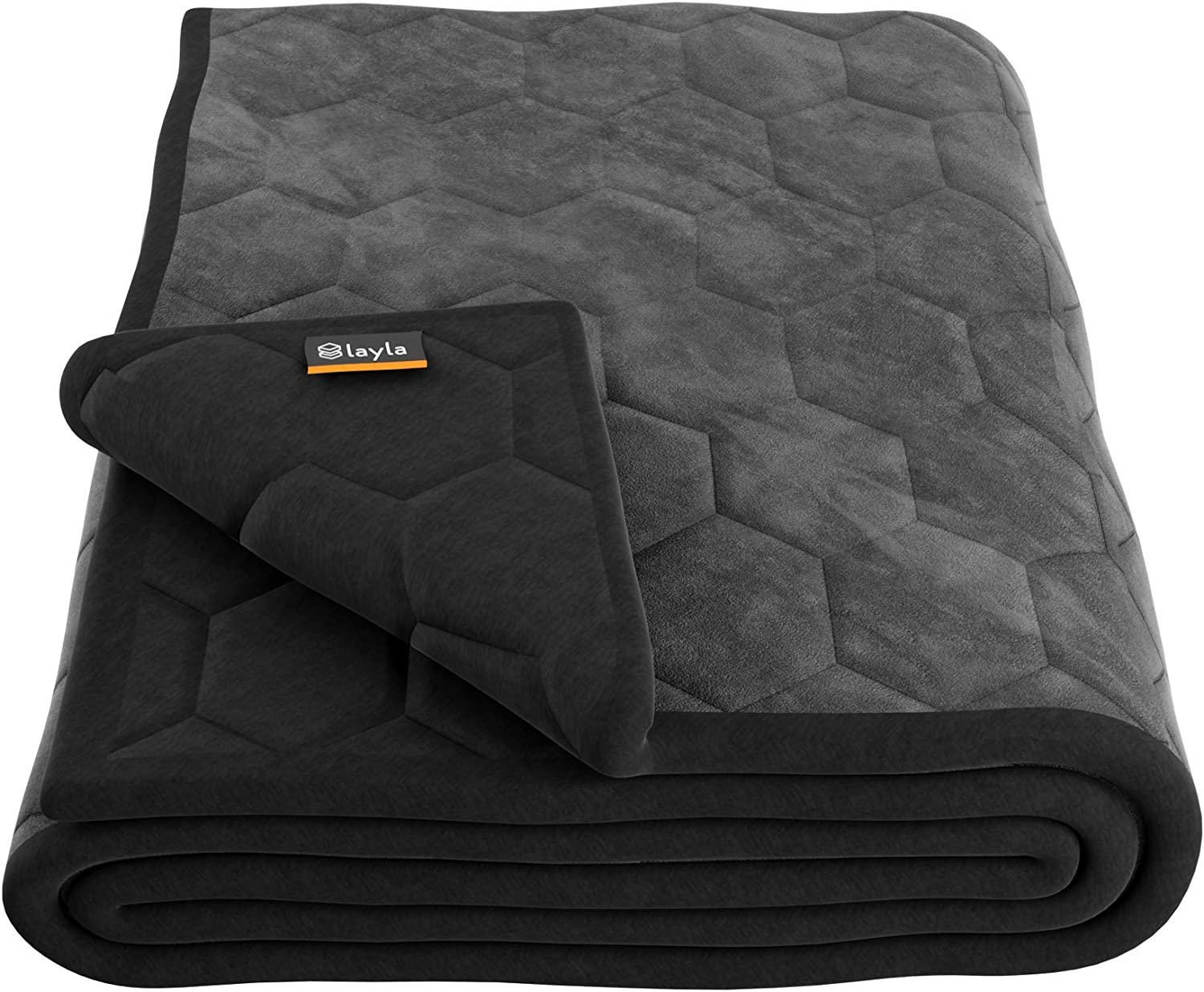 Layla Weighted Blanket with Fleecy Top Layer and 300 Thread-Count 100% Cotton Bottom Layer (King) sleep blankets - 71kpF1Fu AL - Sleep blankets review – benefits of sleeping with weighted blankets