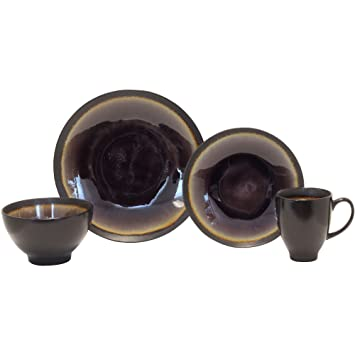 Amazon.com | Baum Galaxy Coupe 16-pc. Dinnerware Set: Dinnerware Sets