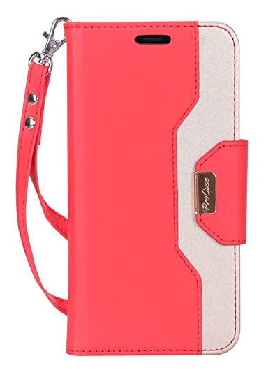 new products 5f67b 0071f ProCase Wallet Case for iPhone XR, Folio Flip Case with Kickstand Card  Holders Mirror Wristlet, Folding Stand Protective Cover for Apple iPhone XR  ...