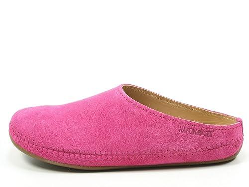 488023 Everest Softino Damen Herren Hausschuhe Pantoffeln Leder, Schuhgröße:44;Farbe:Grün Haflinger