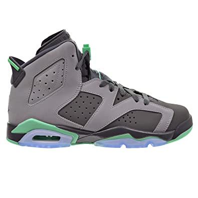 vast selection detailing discount Jordan Air 6 Retro GG Big Kid's Shoes Cement Grey/Green Glow/Dark Grey  543390-005