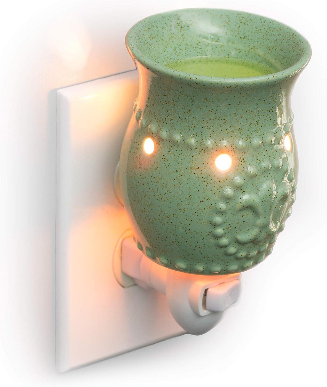 Dawhud Direct Plug-in Fragrance Wax Melt Warmers (Sage Green Fleur-de-lis)