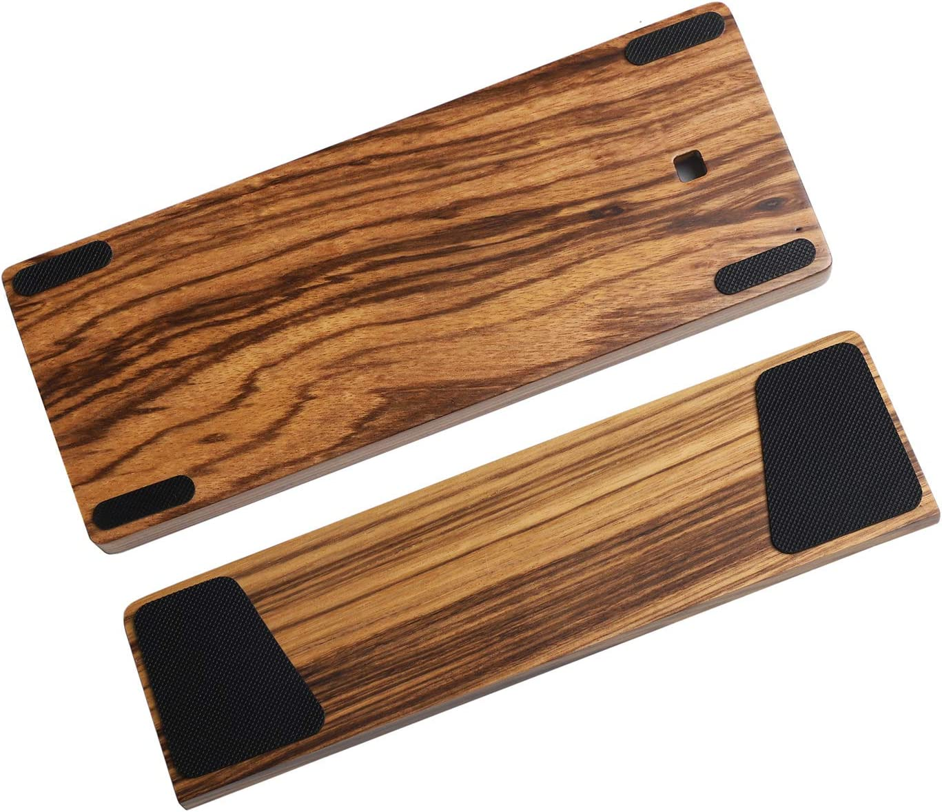 GH60 Solid Wooden Case Wrist Rest for 60% Mini Mechanical Gaming Keyboard Compatible Poker2 Pok3r Faceu 60 (Zebra Wood)