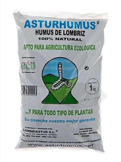 Humus de Lombriz Asturhumus 100% Ecológico - 1 Kg: Amazon.es: Jardín