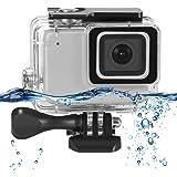 Rhodesy Custodia Impermeabile per GoPro Hero 7 Silver/White, Custodia Protettiva Include Staffa e Vite per GoPro Hero 7 Silver/White Action Camera (Incompatibile con GoPro Hero 7 Black)