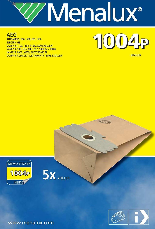 Menalux 1004 P- Bolsas de papel para aspiradoras AEG Vampyr 500 ...