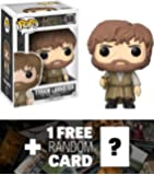 Tyrion Lannister: Funko POP! x Game of Thrones Vinyl Figure + 1 FREE Official Game of Thrones Trading Card Bundle (12216)