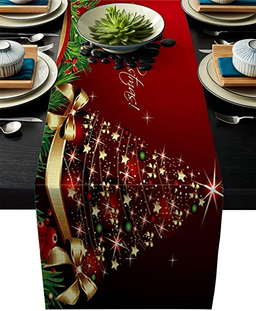 "Table Cover Christmas Xmas Decoration Round 47/"" Novel Tablecloth Santa Claus"