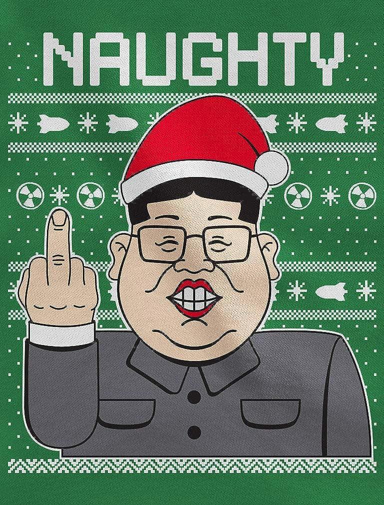 Naughty Funny Kim Jong Un Ugly Christmas Mens Tank Top Tstars