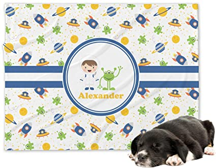 Boy s espacial Minky manta de perro (personalizado)