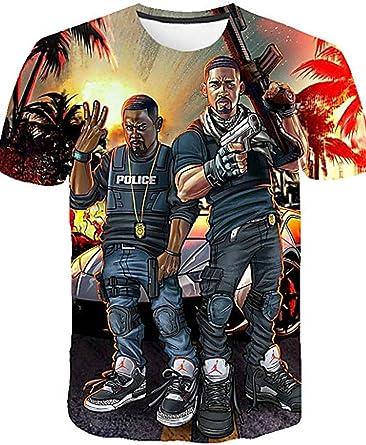Camiseta exagerada de Tallas Grandes para Hombre de Daily s - Camisa XXXXL/Manga Corta con Cuello Redondo y Estampado 3D / Retrato: Amazon.es: Ropa y accesorios