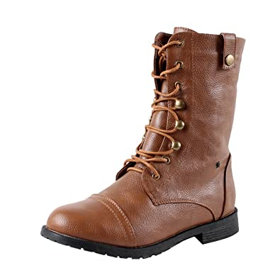 Amazon.com | West Blvd Womens Lagos Combat Boots | Ankle & Bootie