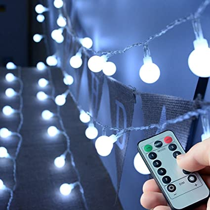 Amazon.com : 16ft 50LEDs Battery Operated String Lights, KOLIER ...