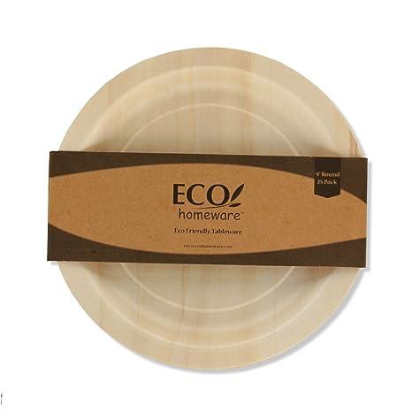 Desechables platos de madera – natural alternativa ecológica para plástico y poliestireno extruido que es y