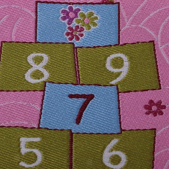 2pcs 12th Floor Covering Cartoon Rug Embroidery Cloth Mat Dollhouse Decor