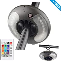 BIGMONAT Patio Umbrella Light Outdoor with Hanging Ring |Pole Lights AA Battery Operated with Remote12Colors Changing Camping Tent Light |Brightness Dimmable and Timer Setting Accent Light 120Lumens