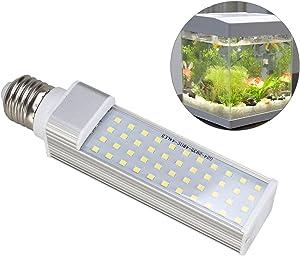 UEETEK Aquarium Lamp,44 LEDs 550-650Lumens 9W E27 LED Energy Saving Lamp Light for Fish Pod/Fish Tanks/Aquariums (White)