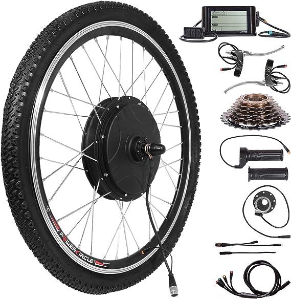 Voilamart Kit de conversión de bicicleta eléctrica de 26 pulgadas ...