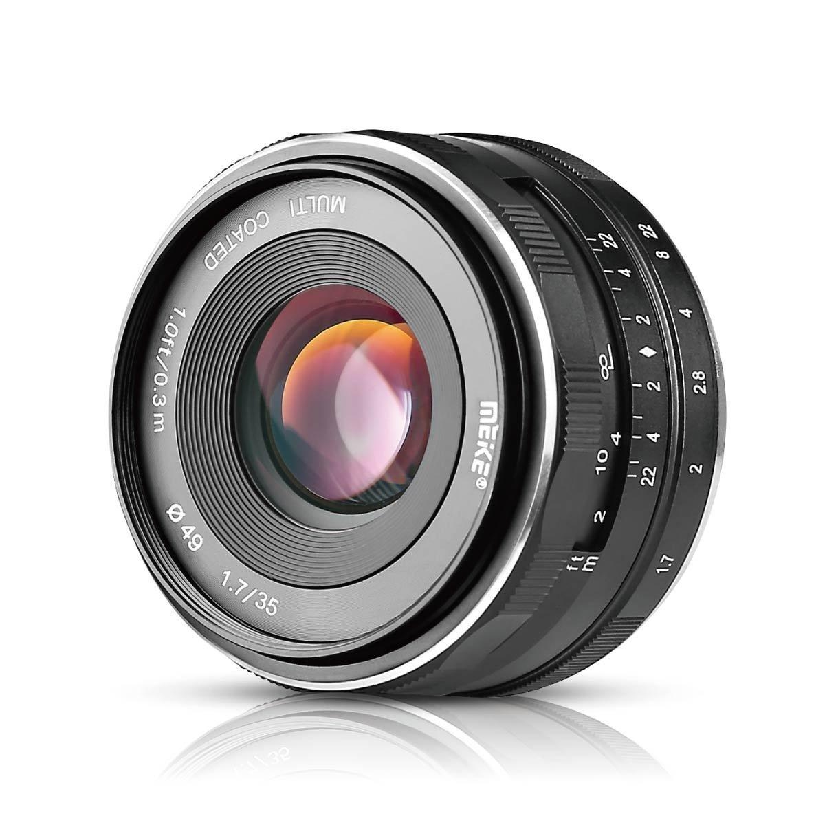 Meike 35mm F1.7 Large Aperture Manual Focus Fixed Lens for Canon EF-M EOS M1 M2 M3 M5 M6 M10 M100