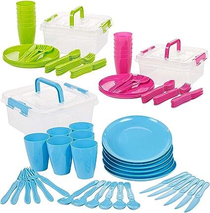 Invero - Juego de 93 piezas de plástico reutilizable para ...