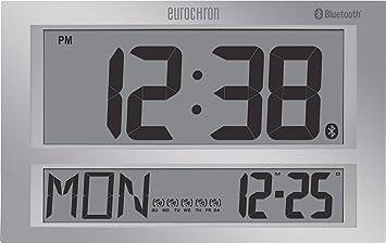 Eurochron Funk reloj de pared 424 mm x 273 mm x 44 mm gris: Amazon.es: Electrónica