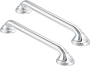 Moen LR8716D3CH 16-Inch Designer Bathroom Grab Bar, Chrome with Moen LR8724D3CH 24-Inch Designer rab Bar, Chrome