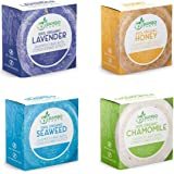 Solid Shampoo Bar And Conditioner Effect Hair Soap – 4 Pack 100% Organic Shampoo Bars For Hair With All Natural Plant…