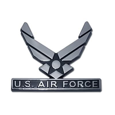 U.S. Air Force Wings Chrome Auto Emblem: Automotive