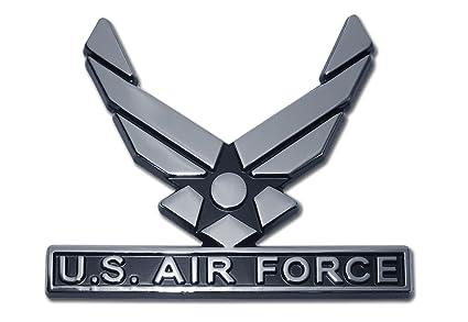 Elektroplate US Air Force Wings Chrome Auto Emblem