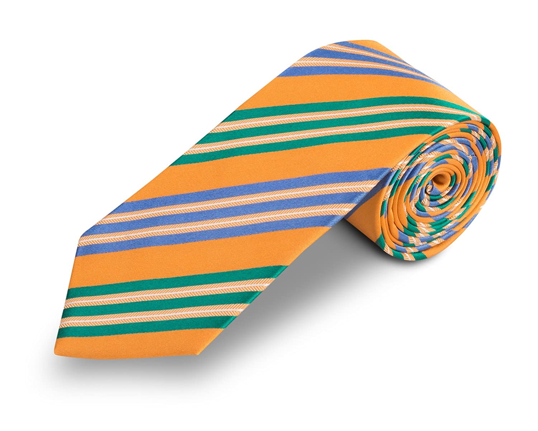 corbata naranja y verde - corbatas de hombre - corbata amarilla ...
