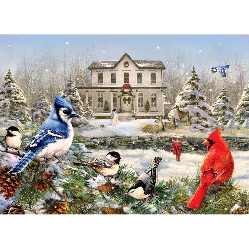 Cobble Hill 51823 - Giordano: Country House Birds - puzzle 1000 piezas: Amazon.es: Juguetes y juegos