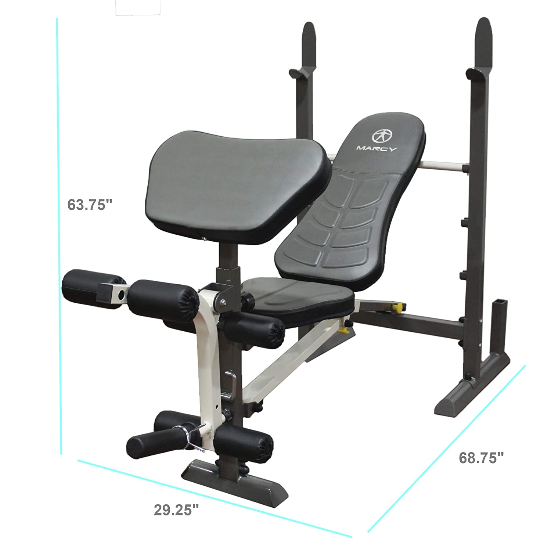 Beautiful Jack Lalanne Bench Press Part - 3: Amazon.com : Marcy Folding Standard Weight Bench - Easy Storage MWB-20100 :  Sports U0026 Outdoors
