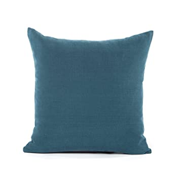 Amazoncom 20 X 20 Solid Navy Dark Blue Throw Pillow Cover