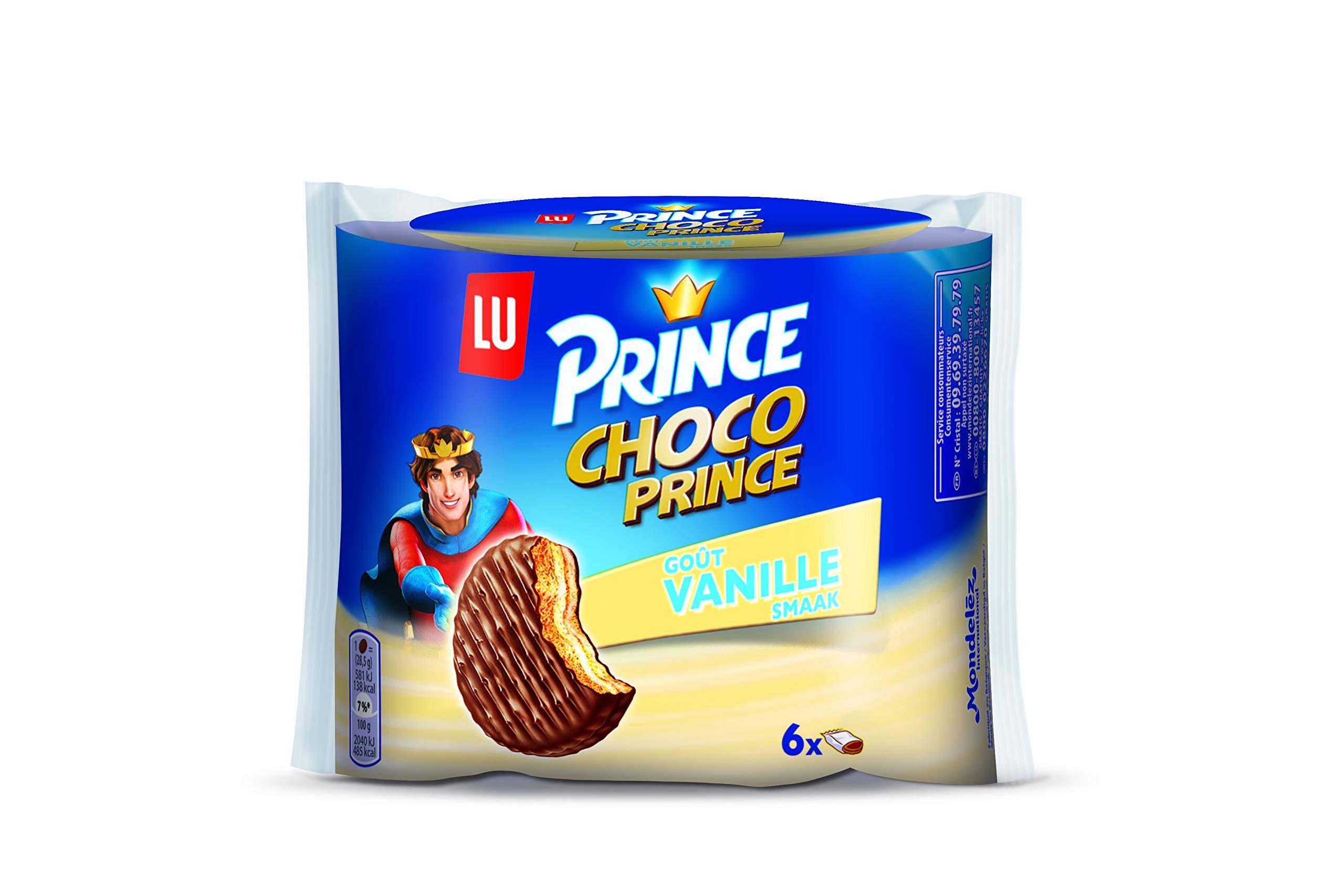 Chocolate Biscuits   Lu   Prince Biscuit Choco Vanilla 6 Cookies   Total Weight 170 Grams