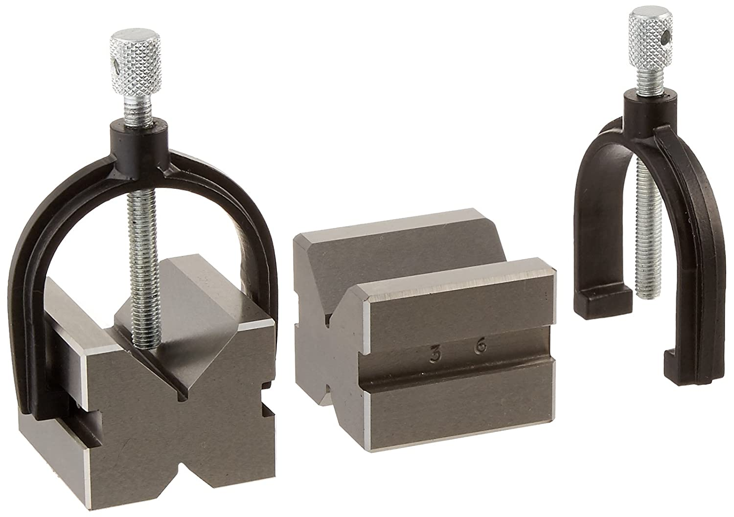 Grizzly H5609 V-Block Pair with Clamps 1-3//4-Inch