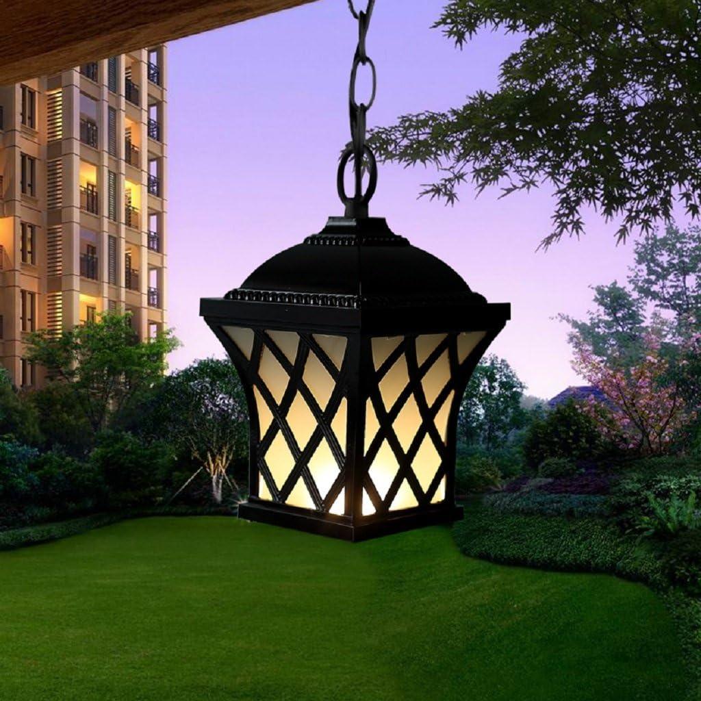 Europea lámparas al aire libre impermeable lluvia jardín corredor Pergola lámpara de araña lámpara de araña al aire libre al aire libre Balcón puerta, Small: Amazon.es: Hogar