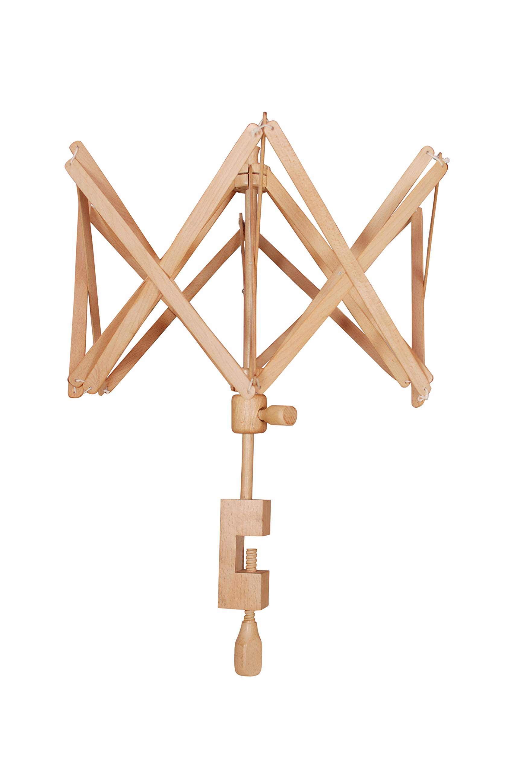 Wooden Umbrella Swift Yarn Winder 24 Inch- Handcrafted with Materials and Super Smooth Finish - Elegant Design - Perfect Gift for Knitters!
