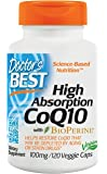 High Absorption CoQ10 with Bioperine, 100 mg (120 Veggie Caps)
