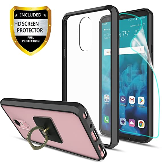 reputable site 73962 f0090 LG Stylo 4 Case,LG Q Stylus Clear Case With HD Screen Protector + Phone  Stand,Ymhxcy [Anti-Scratch] [Shock Absorption] [Air Hybrid] Ultra Slim  Bumper ...