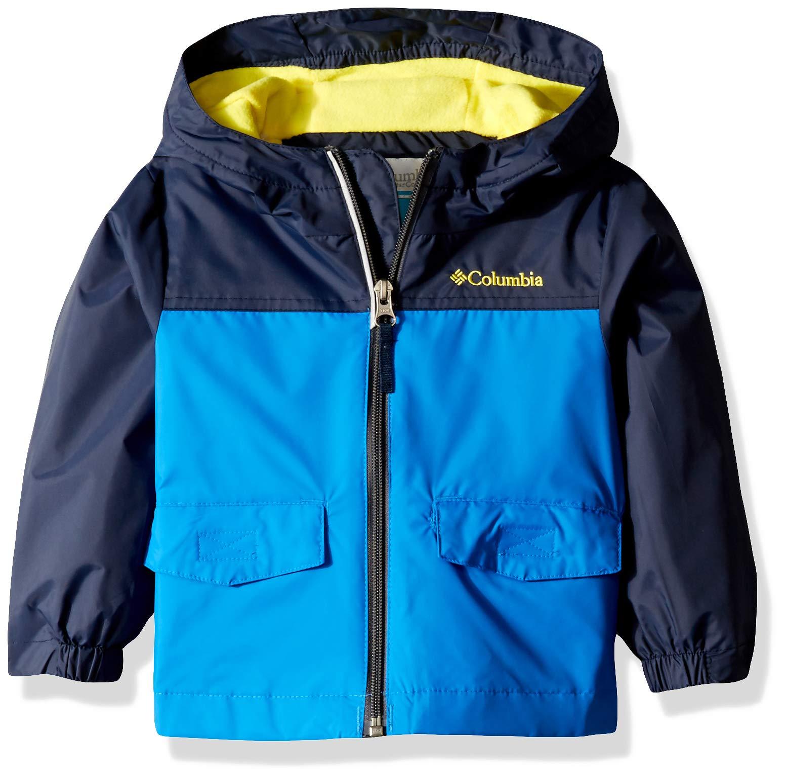 Columbia Boys' Toddler Rain-Zilla Jacket, Super Blue/Collegiate Navy, 2T