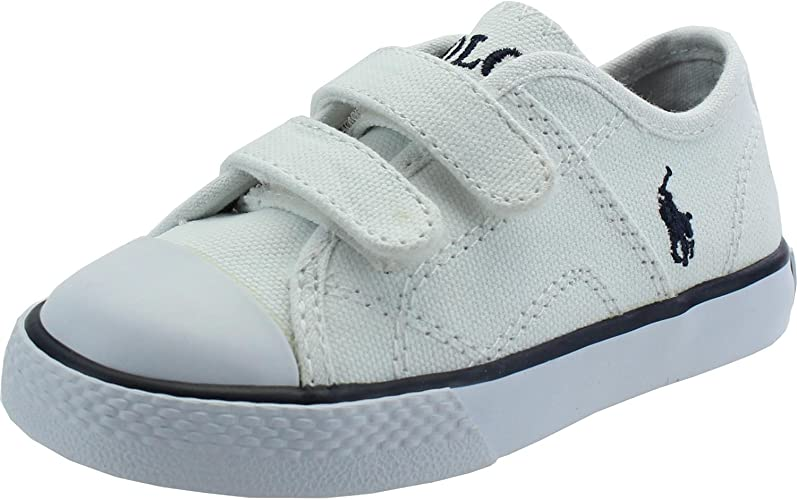 POLO RALPH LAUREN - Zapatilla con velcro blanca: Amazon.es ...