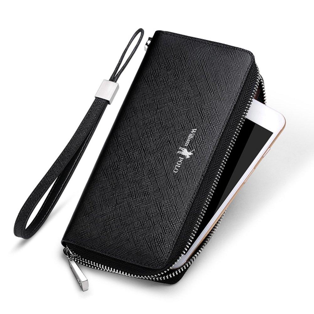 Rfid Blocking Genuine Leather Wallet Men Excellent Travel Credit Card Case Wallets Protector Money
