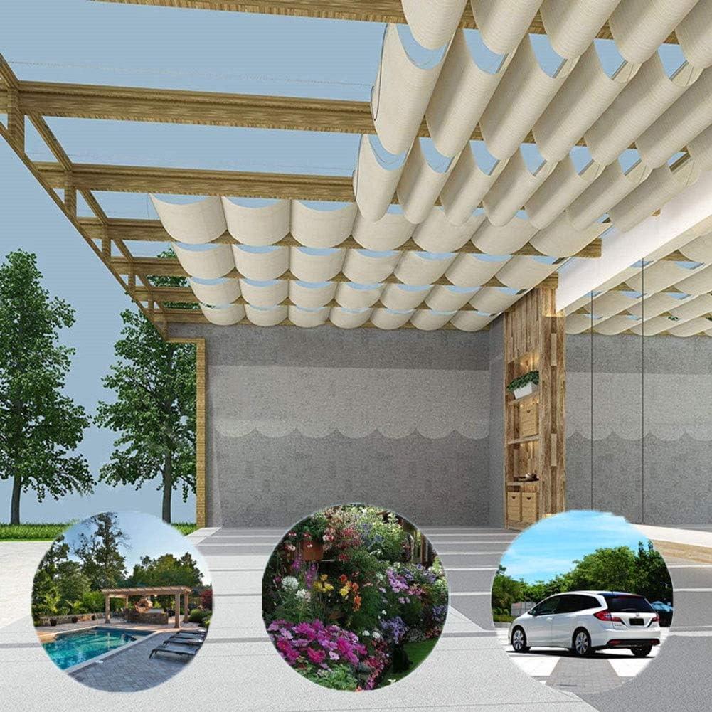 BAIYING Malla Sombra De Red Toldo retráctil Versión Mejorada Tela de Sombra Protector Solar Respirable Terraza jardín, Accesorios de Acero Inoxidable, Tamaño Personalizable: Amazon.es: Hogar